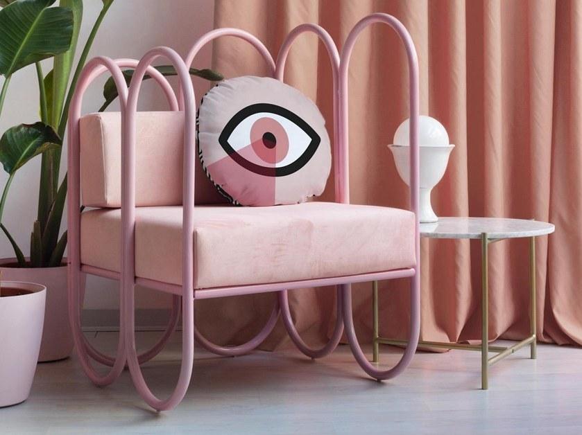 Fauteuil design rose