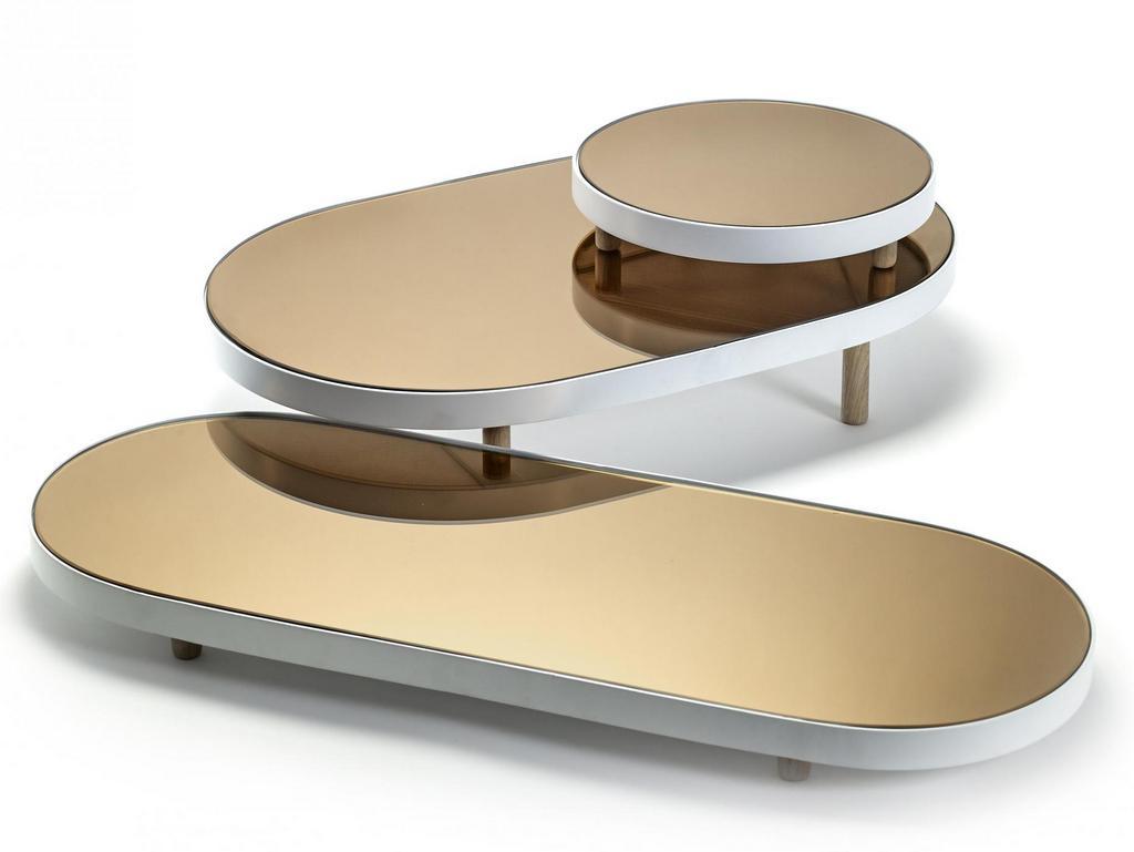 plateau miroir ovale