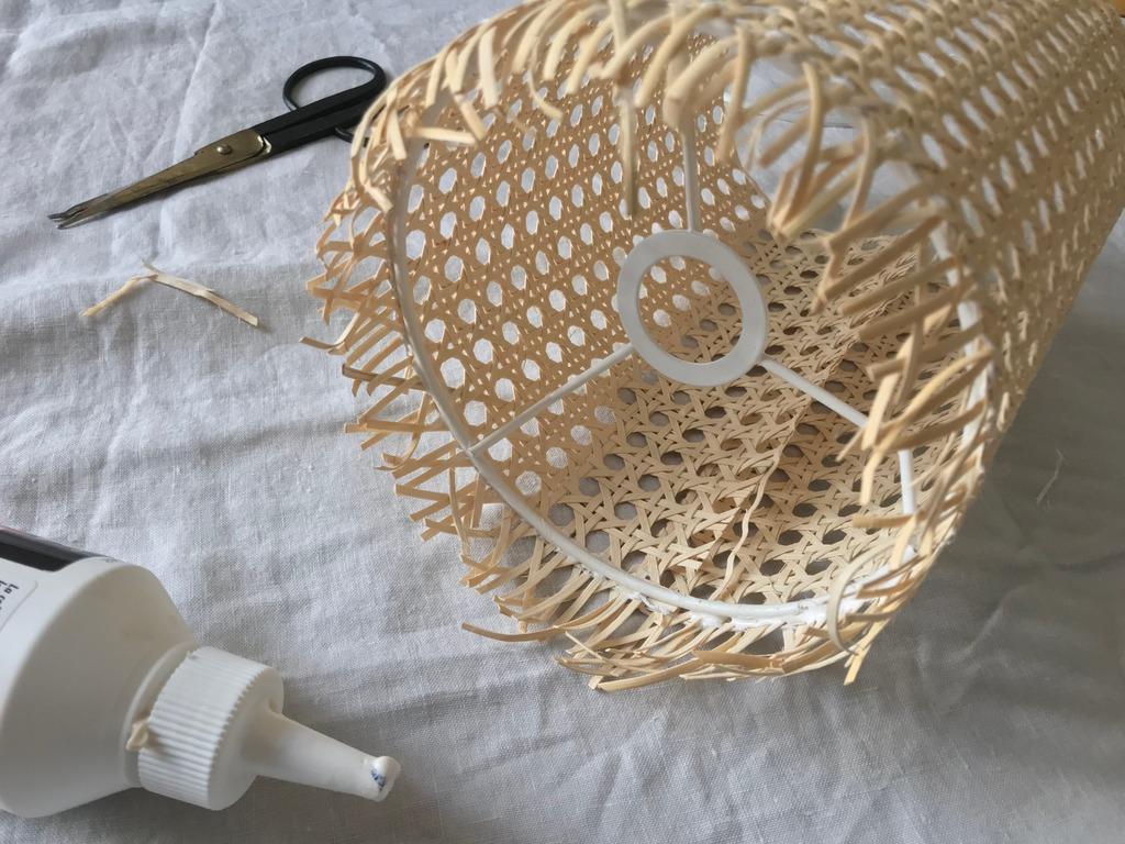 DIY Lampe en cannage