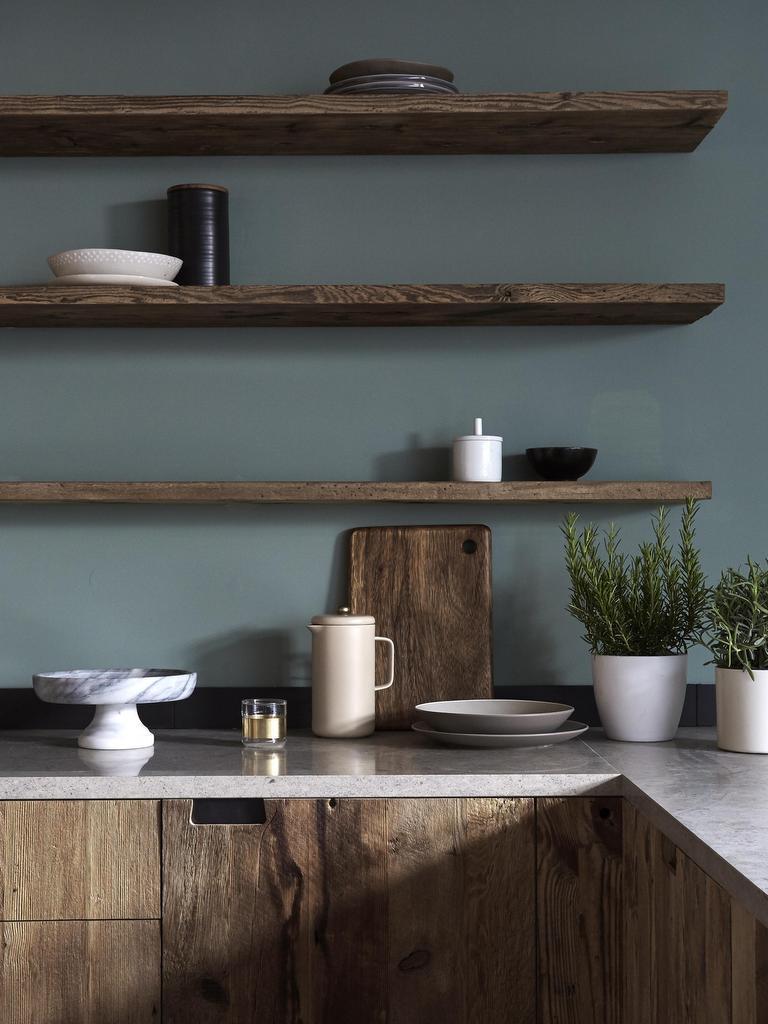 10 inspirations pour une cuisine bleu gris joli place. Black Bedroom Furniture Sets. Home Design Ideas