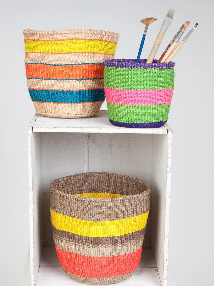 Panier tressé multicolore : où en trouver - Joli Place