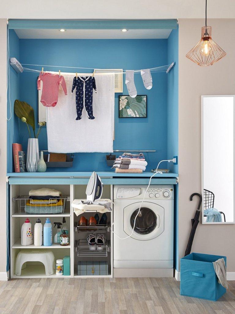 petite buanderie des id es bien pratiques joli place. Black Bedroom Furniture Sets. Home Design Ideas