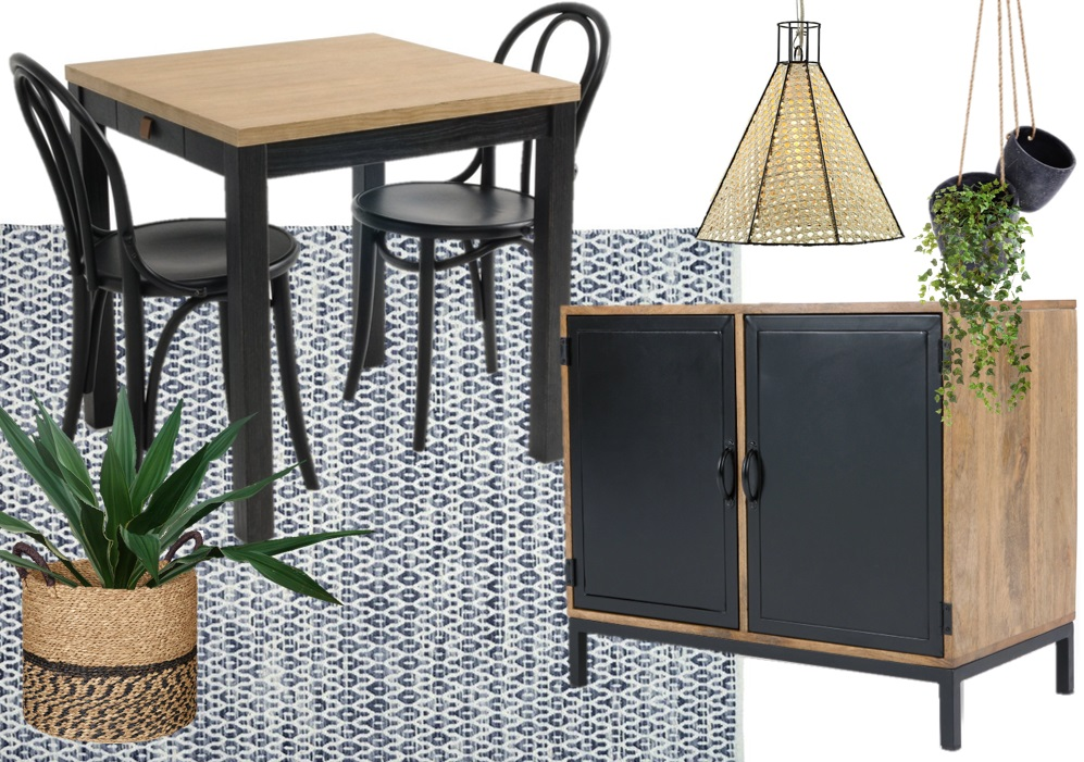 Une salle à manger en bleu et noir - Joli Place