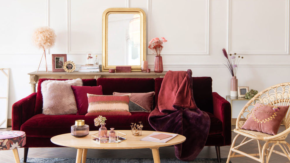 d co couleur bordeaux des inspirations du salon la chambre joli place. Black Bedroom Furniture Sets. Home Design Ideas