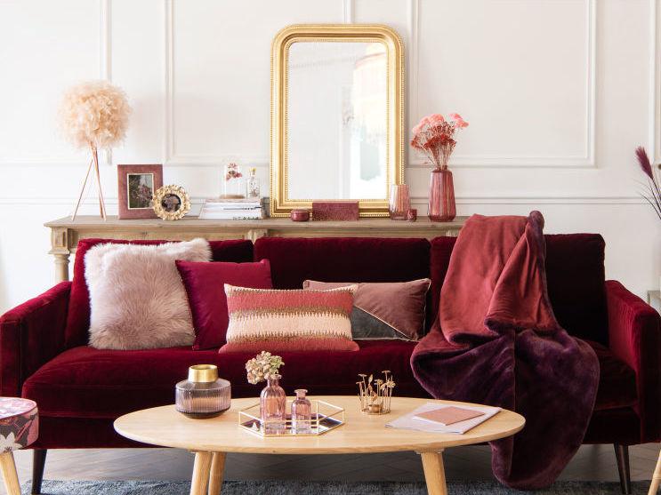 d co couleur bordeaux des inspirations du salon la chambre joli place. Black Bedroom Furniture Sets. Home Design Ideas