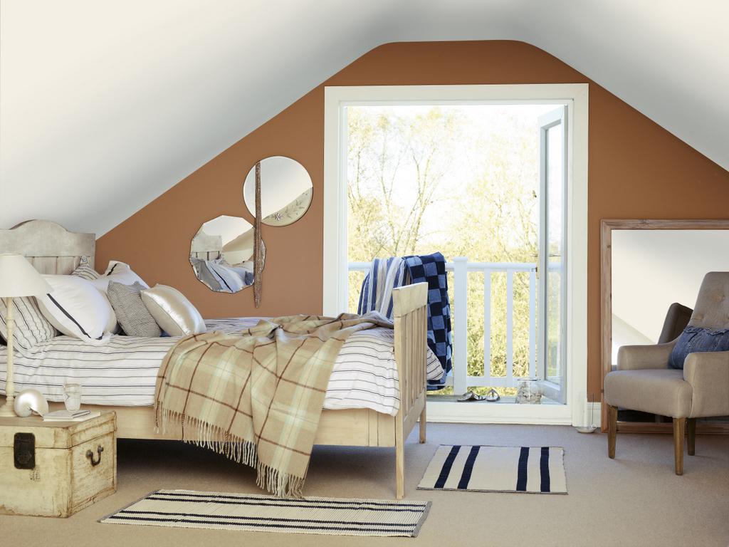 Décorer une chambre en bleu beige et camel - Joli Place