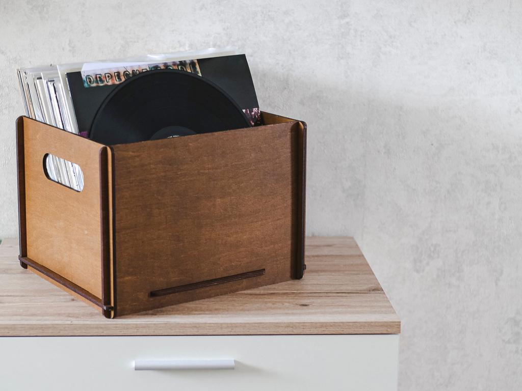 caisse de rangement pour vinyles