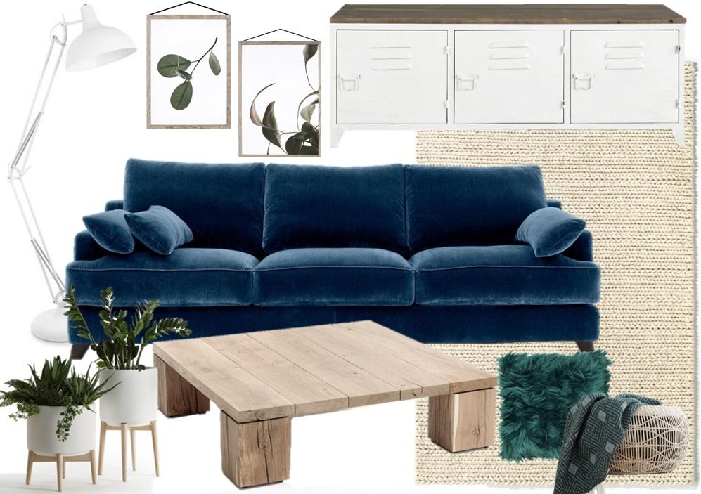Quelle déco avec un canapé en velours bleu - Joli Place
