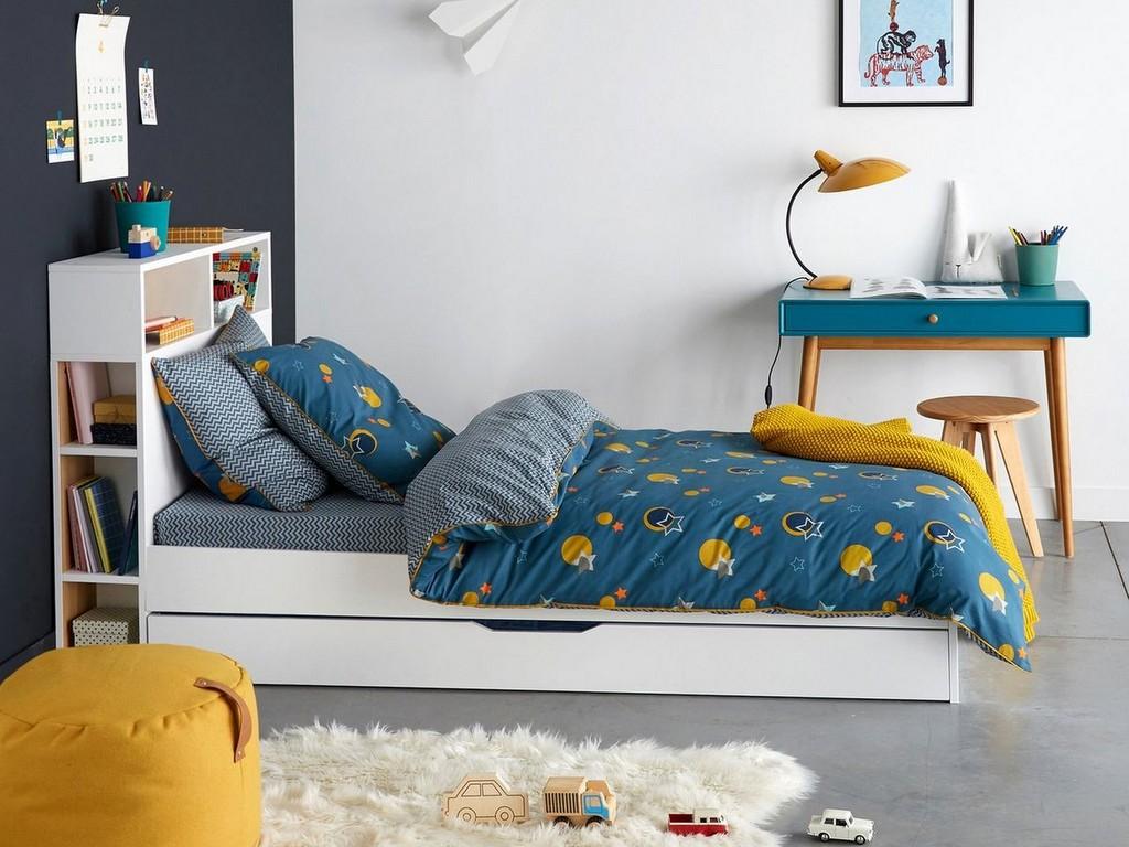 Deco Chambre Jaune Et Gris une chambre pour garçon en bleu et jaune - joli place