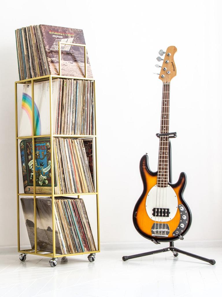 étagère pour vinyles