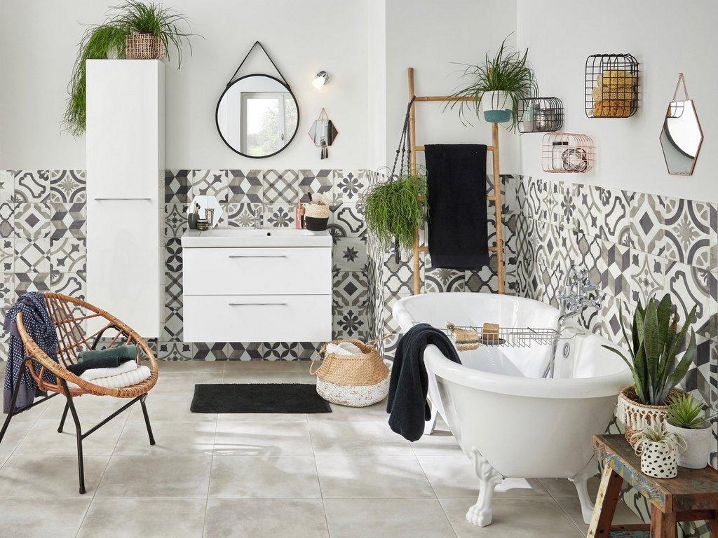 Carreaux de ciment salle de bain : nos idées déco - Joli Place