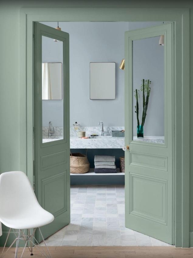 une touche de d co vert sauge dans la maison joli place. Black Bedroom Furniture Sets. Home Design Ideas