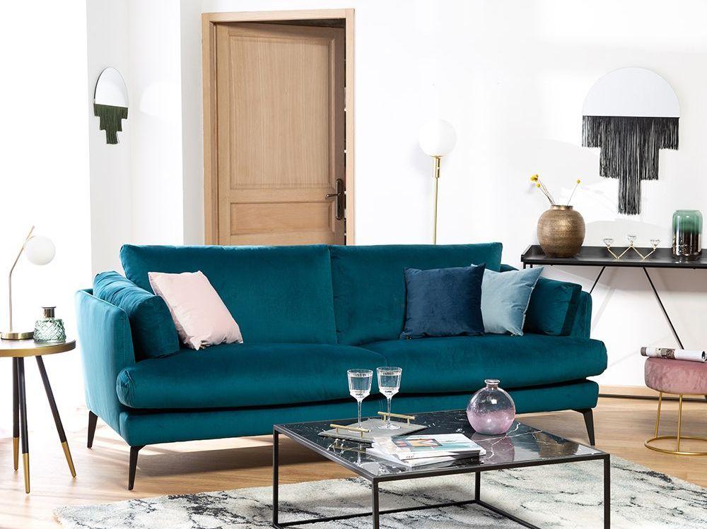 Une touche de bleu canard dans le salon - Joli Place