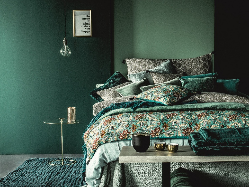 Chambre vert foncé : des idées pour la décorer - Joli Place