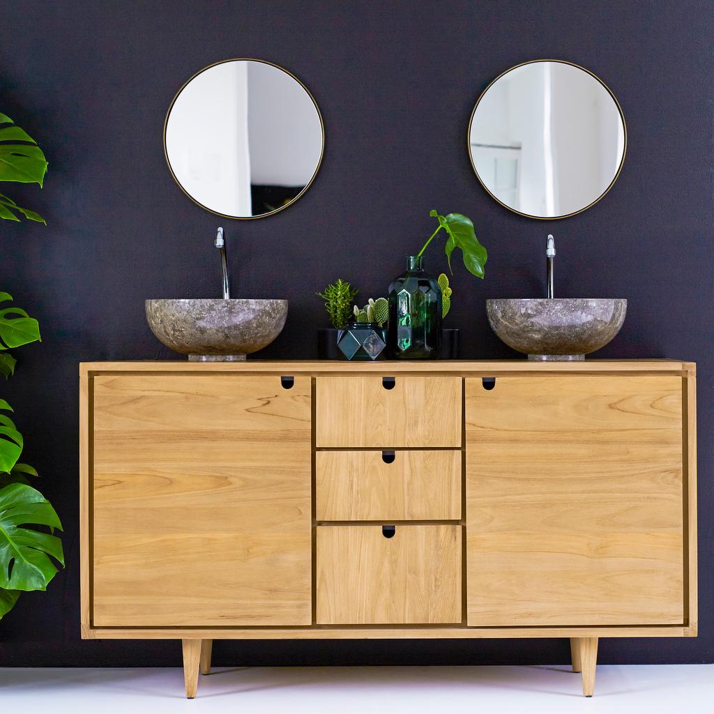 Enfilade salle de bain : le meuble sous vasque qui change - Joli Place