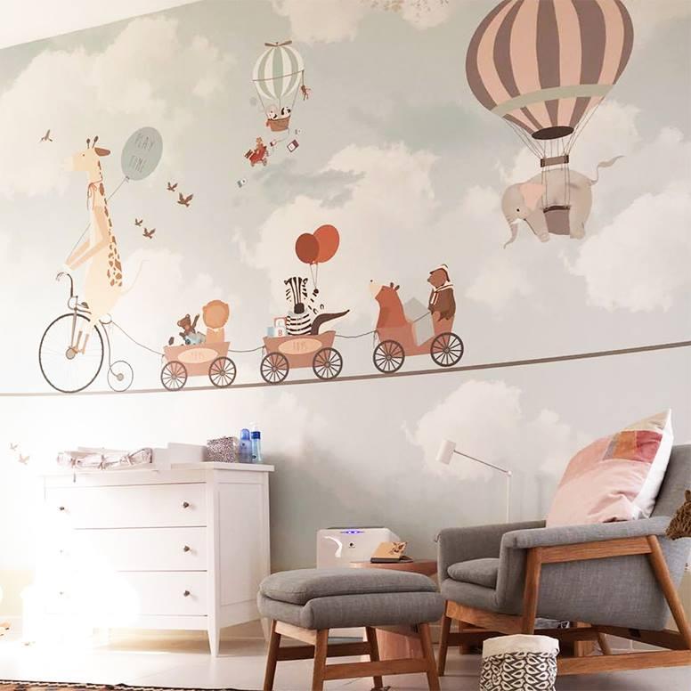 Le papier peint little hands pour les chambres d 39 enfants - Papier peint pour chambre d enfant ...