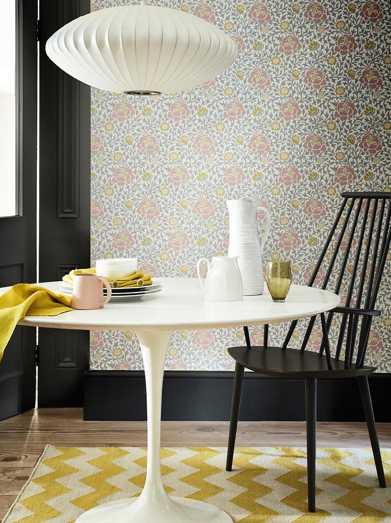 quel papier peint pour la salle manger joli place. Black Bedroom Furniture Sets. Home Design Ideas