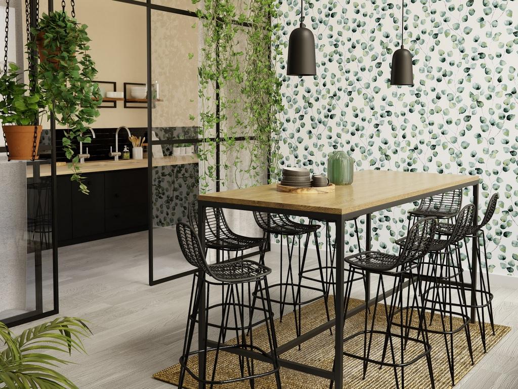 Papier Peint Style Atelier quel papier peint pour la salle à manger - joli place