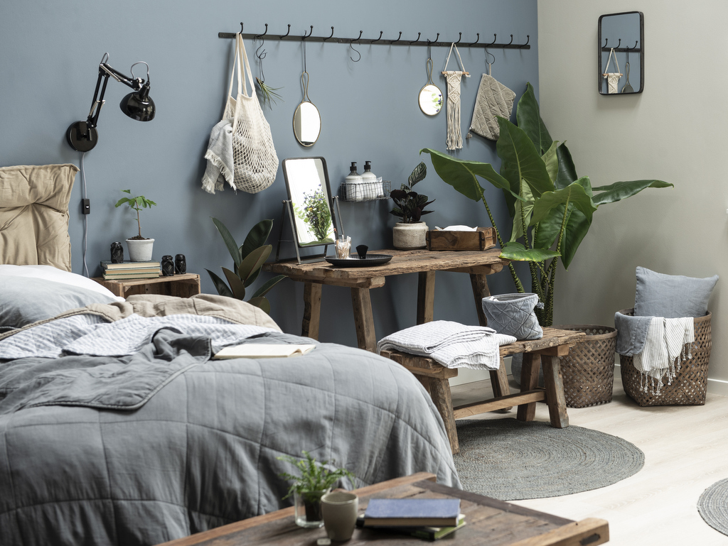 chambre bleu gris des id es pour la d corer joli place. Black Bedroom Furniture Sets. Home Design Ideas