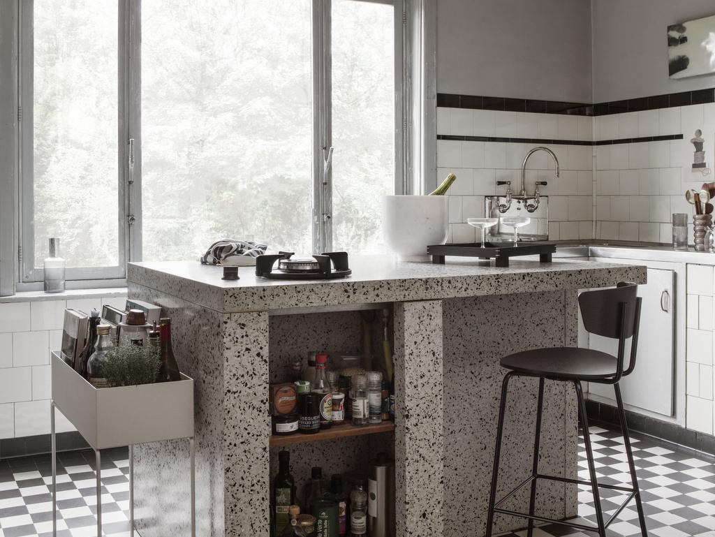 D corer une cuisine avec du terrazzo joli place - Stickers plan de travail cuisine ...