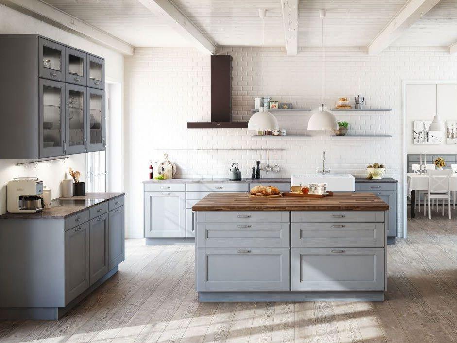 Cuisine gris clair nos inspirations d co joli place - Cuisine bois gris clair ...