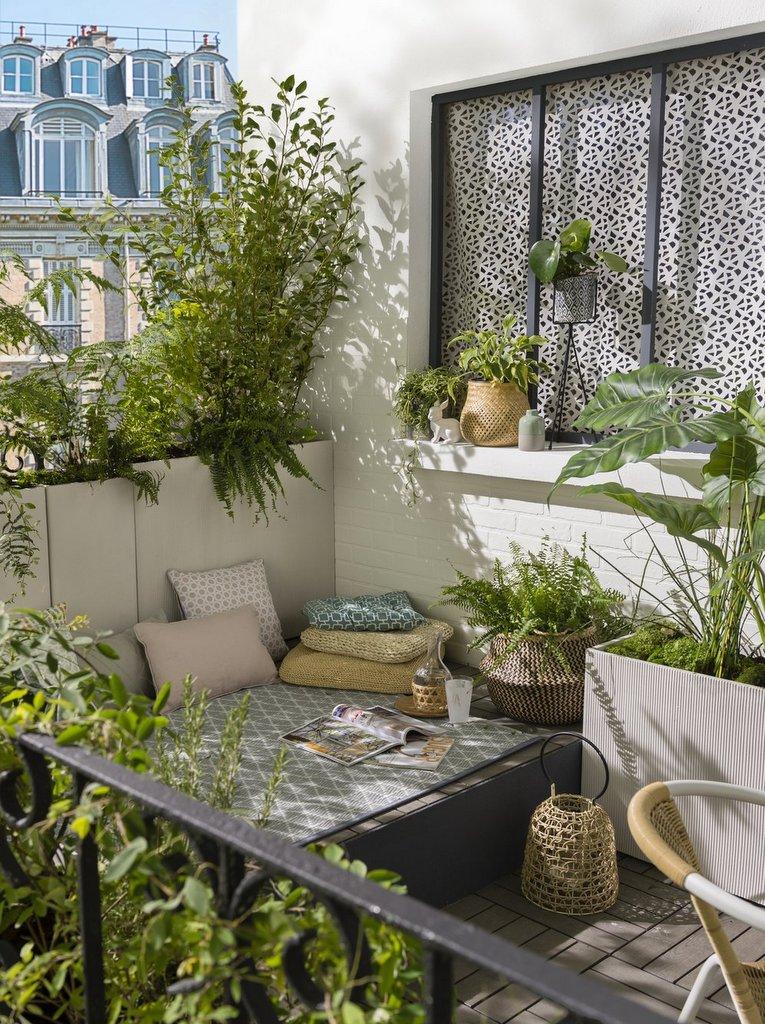Un coin repos sur une terrasse déco bohème - Joli Place