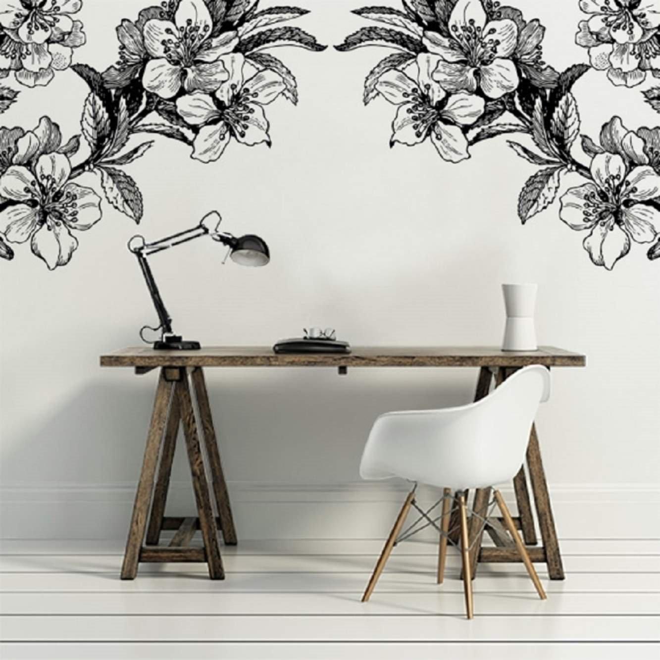 Papier Peint Panoramique Noir Et Blanc la tendance du papier peint végétal noir et blanc - joli place