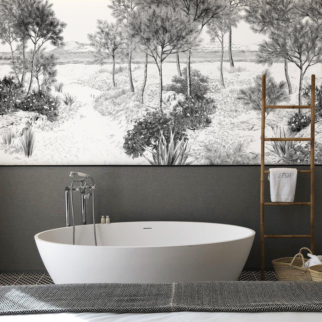 Papier Peint Noir Et Blanc Graphique joli place - faites le plein d'inspirations déco pour la maison