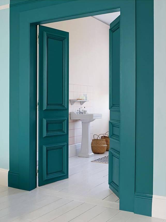 10 inspirations d co couleur bleu canard joli place. Black Bedroom Furniture Sets. Home Design Ideas