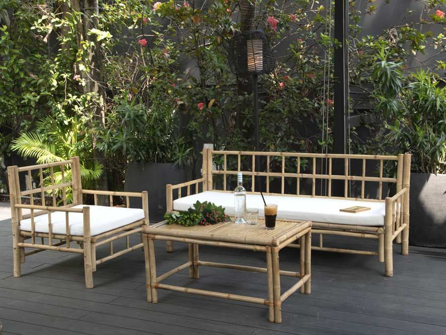 boh me chic le salon de jardin en bambou joli place. Black Bedroom Furniture Sets. Home Design Ideas