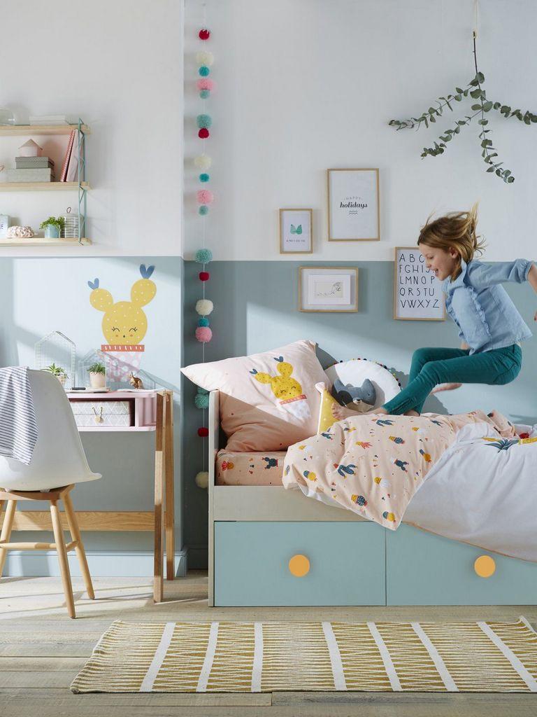 Chambre Enfant Bleu Et Rose une chambre de fille qui mise sur le bleu - joli place