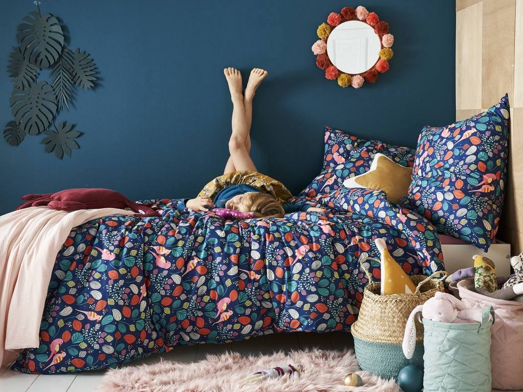 Une chambre de fille qui mise sur le bleu - Joli Place