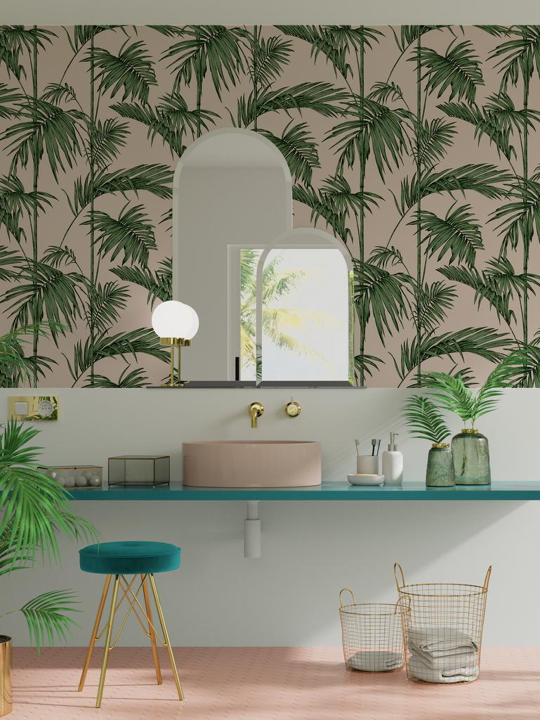 Une d co tropicale dans la salle de bain joli place - Salle de bain tropicale ...
