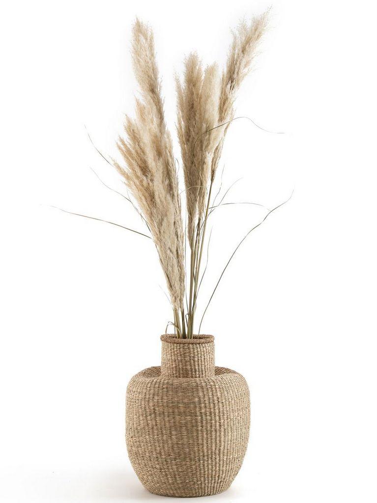 vase en fibres tressées