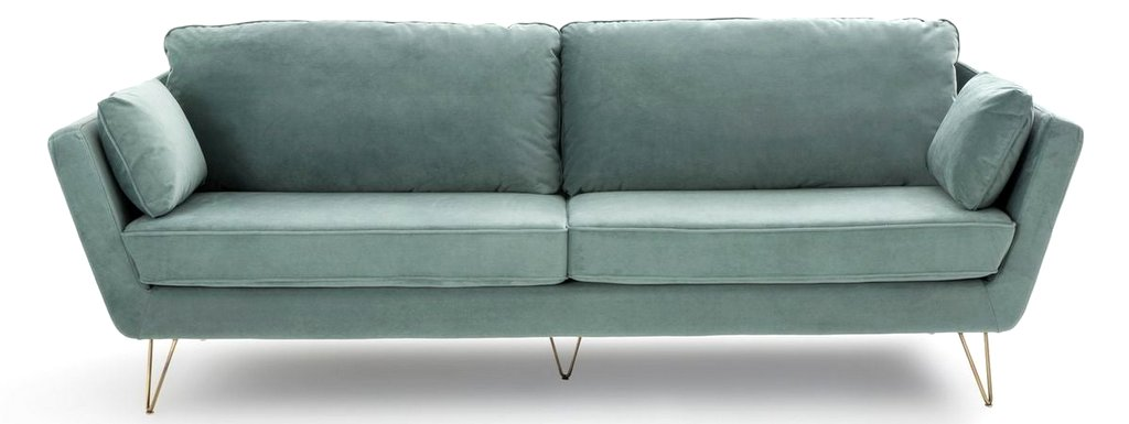 canapé velours bleu clair