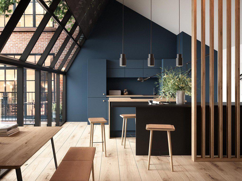 Une cuisine bleu nuit - Joli Place