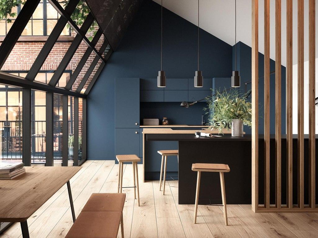 Des idées déco pour une cuisine bleu nuit - Joli Place