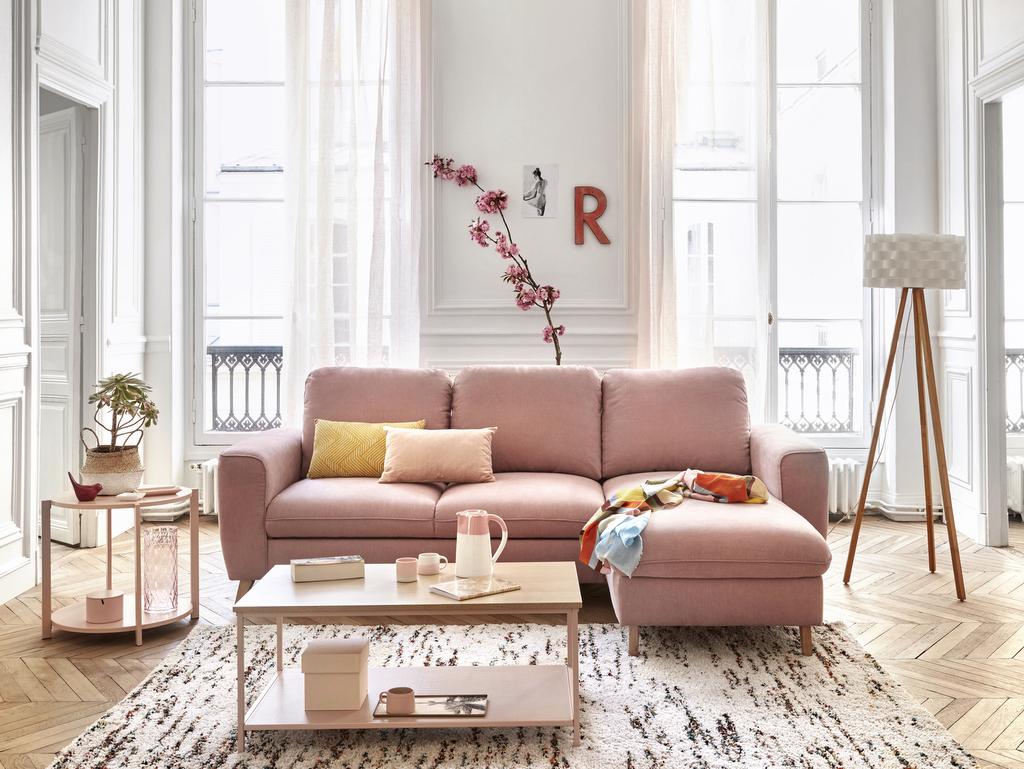 Salon rose poudré : une teinte tout en douceur - Joli Place