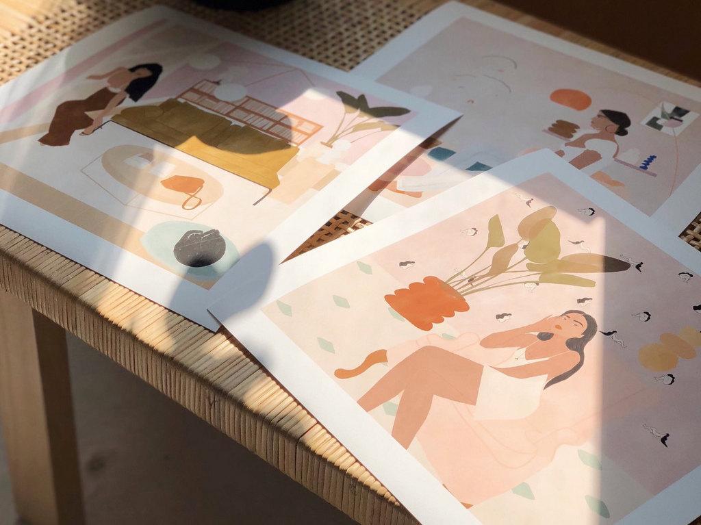 Affiche mode et déco : les illustrations de Carla Llanos - Joli Place