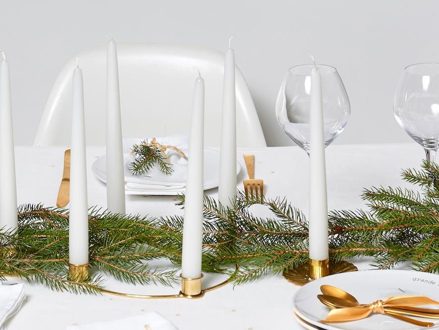 Une déco de Noël en blanc et or - Joli Place