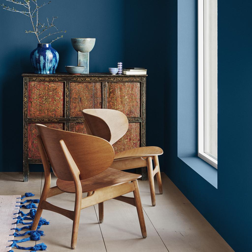 Le bon mix déco : bleu, bois et fibres naturelles - Joli Place