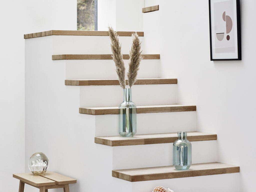 Décoration Marche Escalier Intérieur habiller un escalier en béton avec des marches en bois