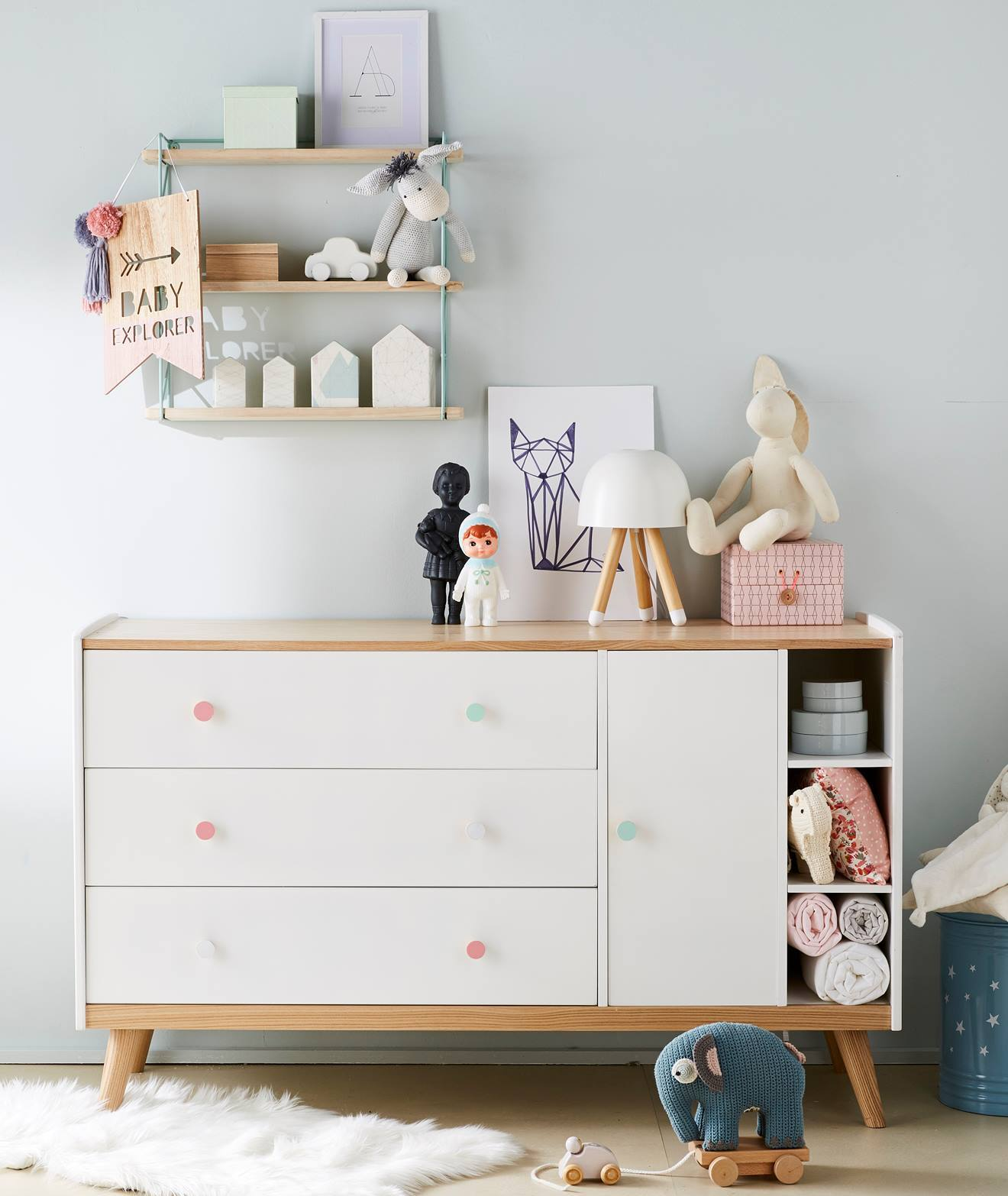 Elegant Meuble De Rangement Chambre Blanc