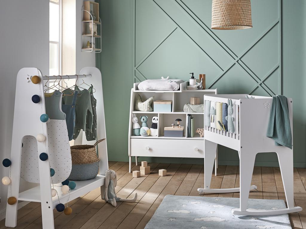 Idée déco  une chambre bébé neutre et stylée   Joli Place