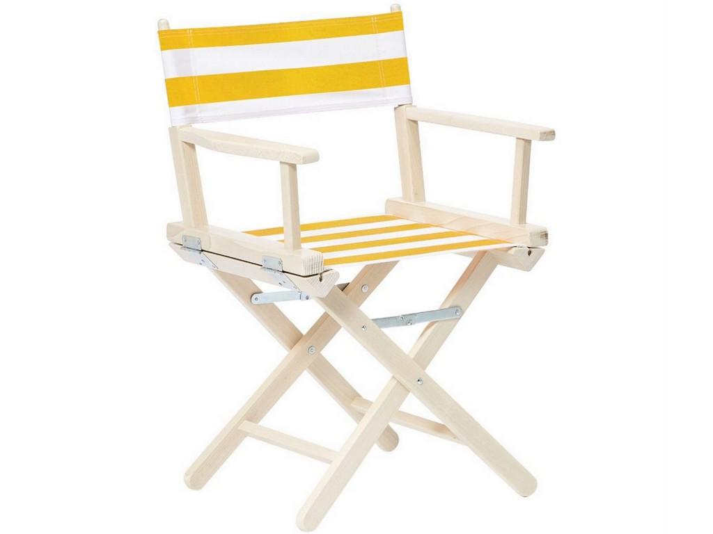 fauteuil de jardin rayé jaune et blanc