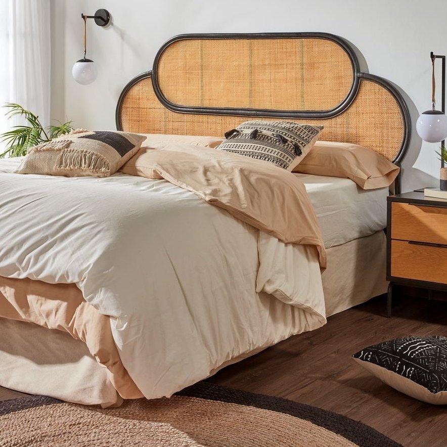 tête de lit rotin et cannage 170 cm