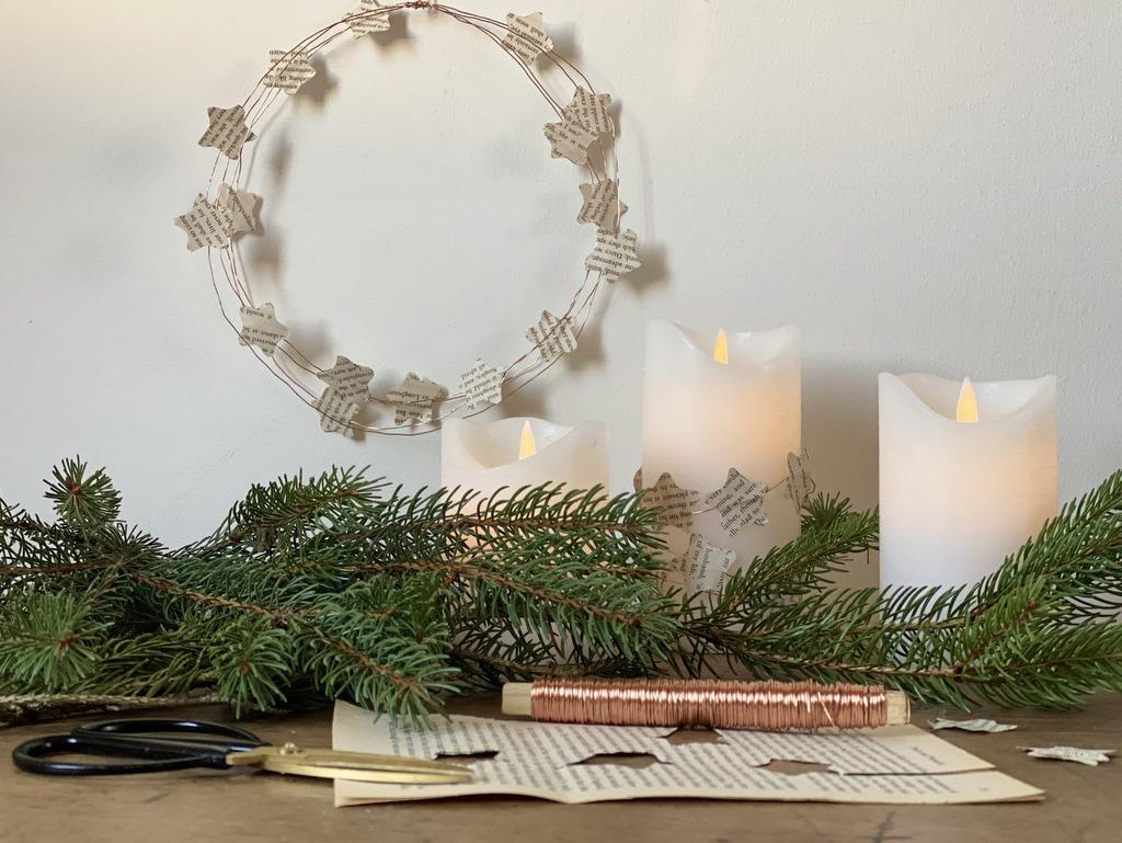 Déco de Noël en papier journal