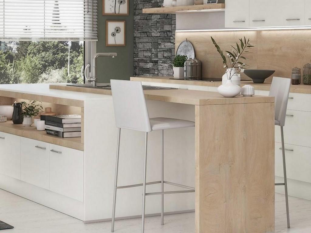 Une cuisine avec table intégrée  12 idées à piquer   Joli Place