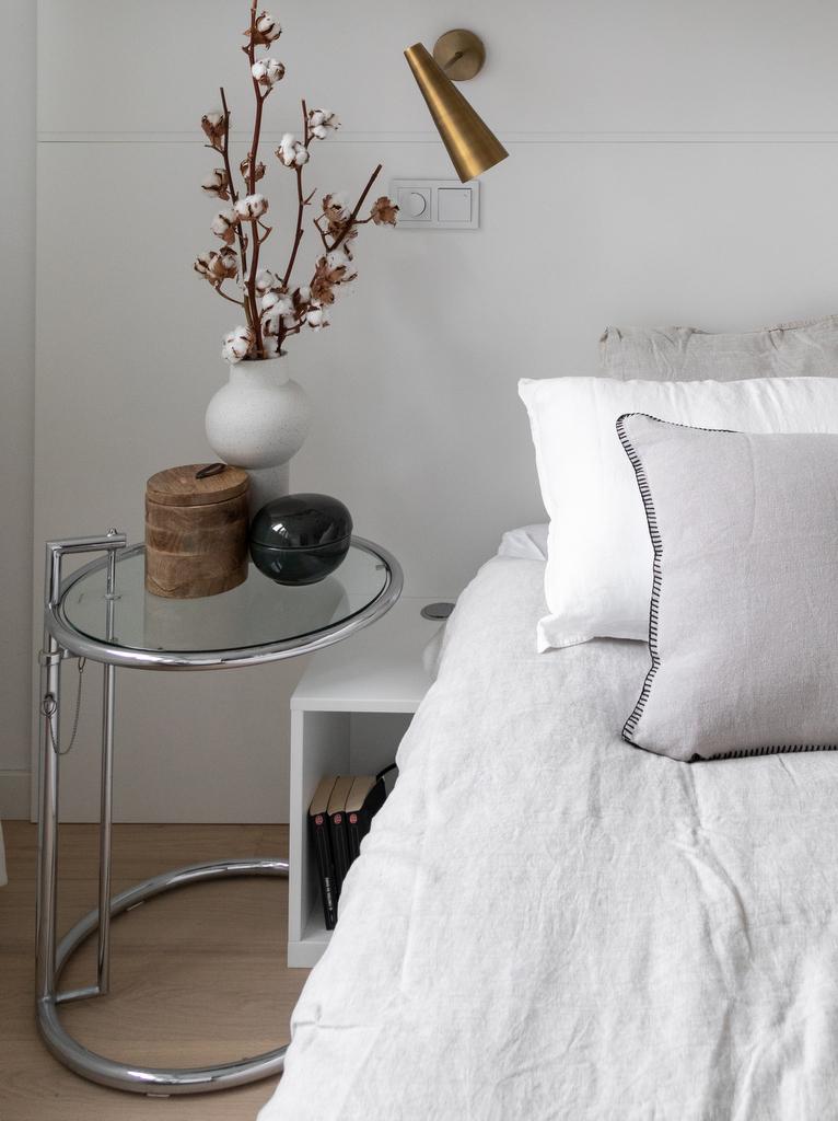 chambre blanche moderne