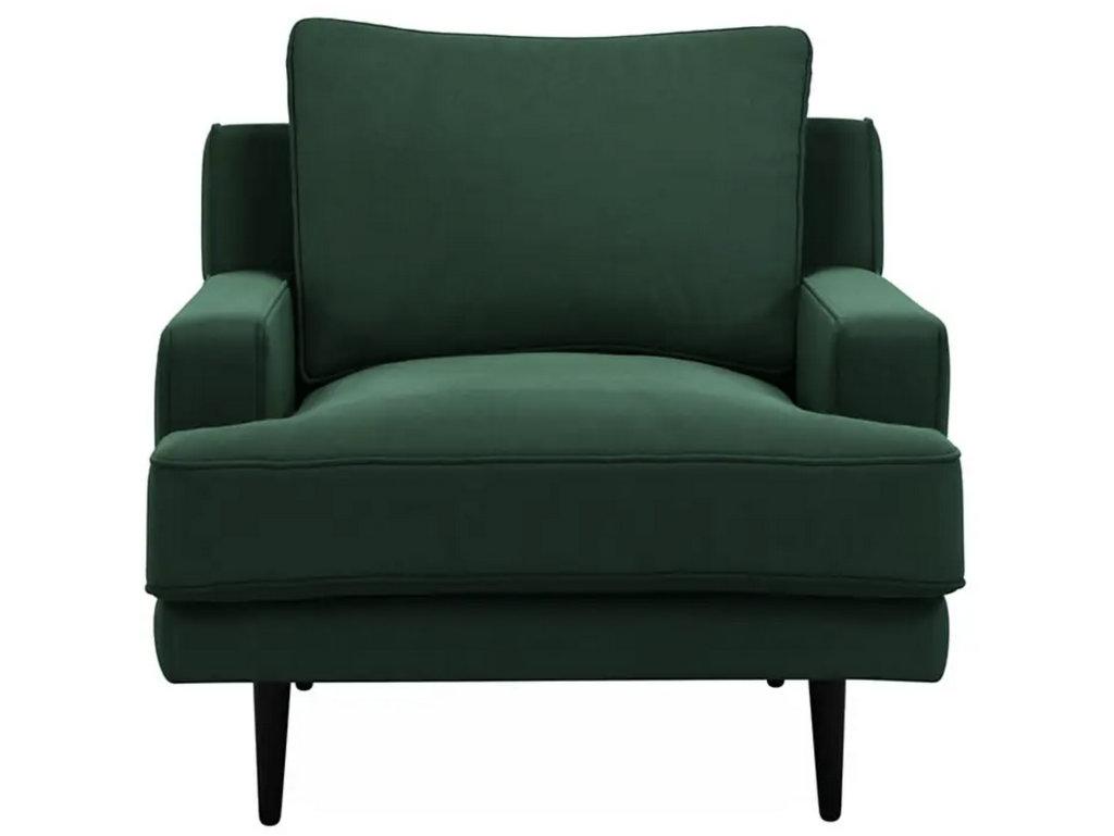 fauteuil en velours vert foncé
